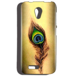 Reliance LYF Flame 2 Mobile Covers Cases Peacock coloured art - Lowest Price - Paybydaddy.com