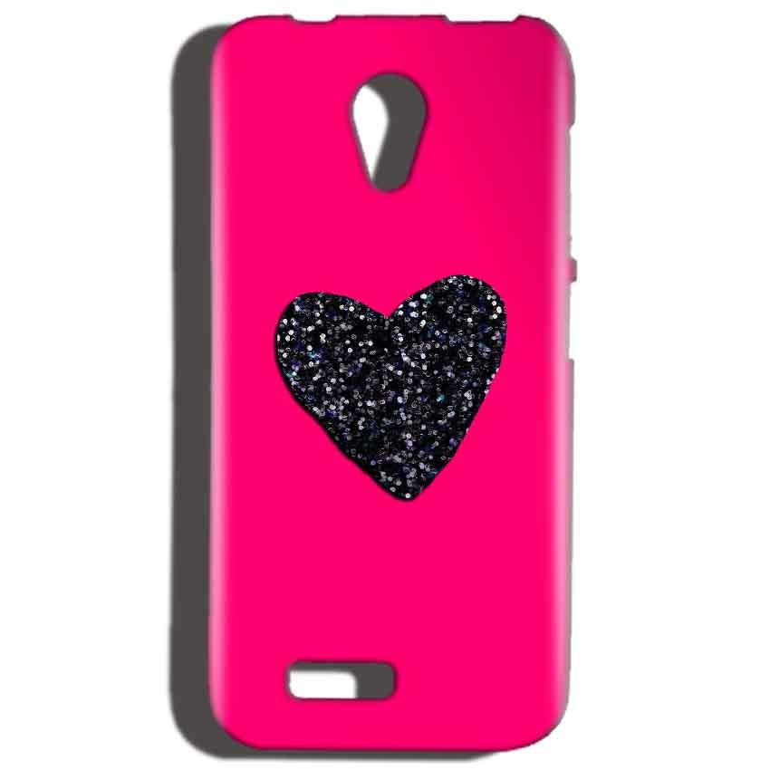 Reliance LYF Flame 2 Mobile Covers Cases Pink Glitter Heart - Lowest Price - Paybydaddy.com