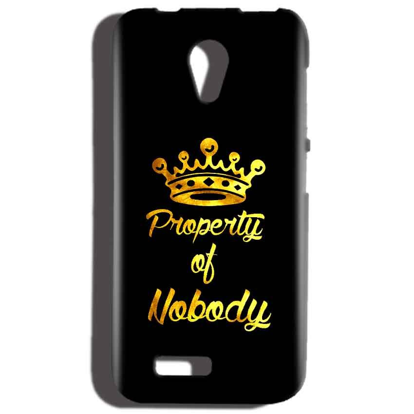 Reliance LYF Flame 2 Mobile Covers Cases Property of nobody with Crown - Lowest Price - Paybydaddy.com