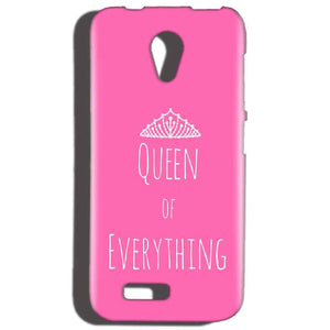 Reliance LYF Flame 2 Mobile Covers Cases Queen Of Everything Pink White - Lowest Price - Paybydaddy.com