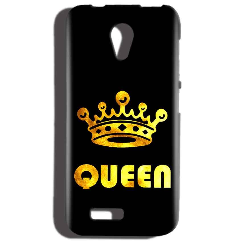 Reliance LYF Flame 2 Mobile Covers Cases Queen With Crown in gold - Lowest Price - Paybydaddy.com