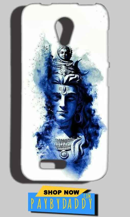 Reliance LYF Flame 2 Mobile Covers Cases Shiva Blue White - Lowest Price - Paybydaddy.com