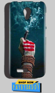 Reliance LYF Flame 2 Mobile Covers Cases Shiva Hand With Clilam - Lowest Price - Paybydaddy.com