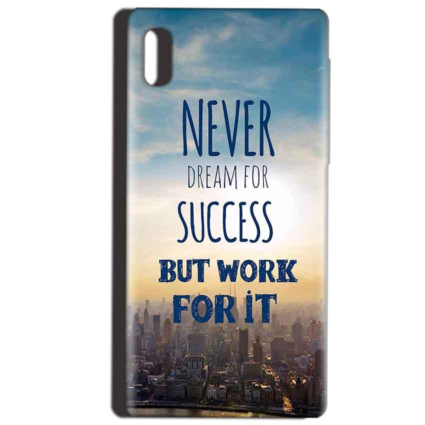 Reliance LYF Water 1 Mobile Covers Cases Never Dreams For Success But Work For It Quote - Lowest Price - Paybydaddy.com