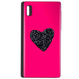 Reliance LYF Water 1 Mobile Covers Cases Pink Glitter Heart - Lowest Price - Paybydaddy.com