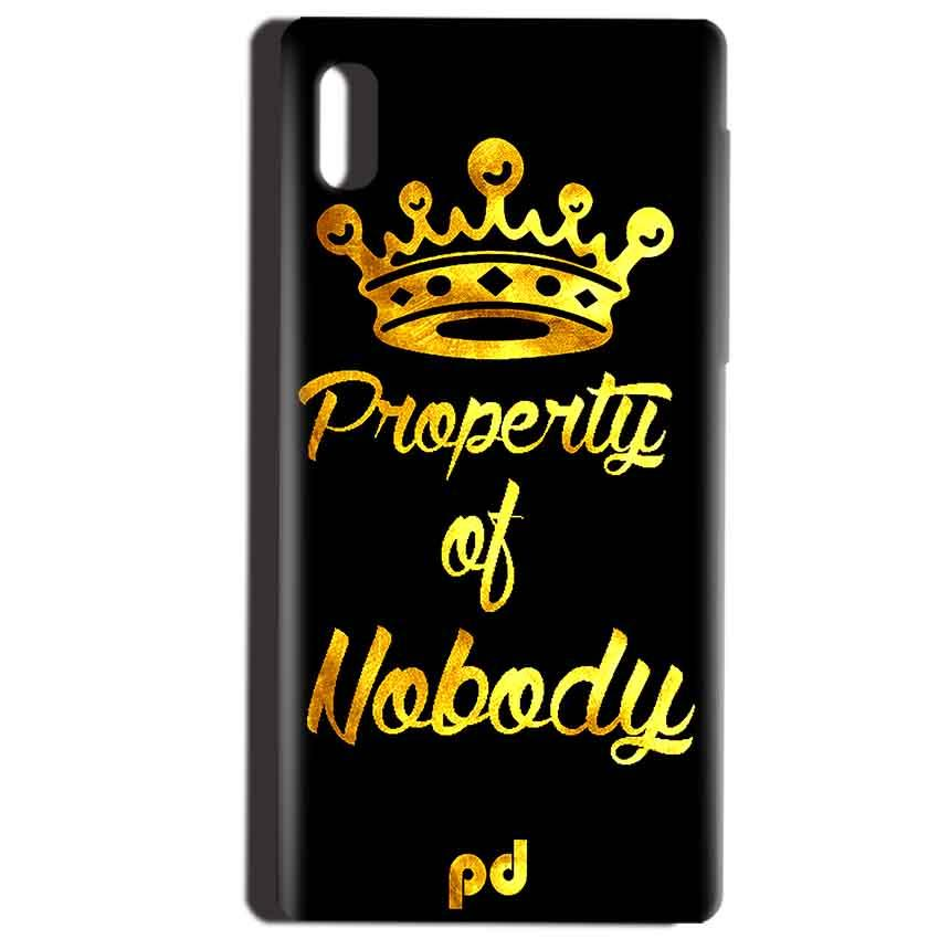 Reliance LYF Water 1 Mobile Covers Cases Property of nobody with Crown - Lowest Price - Paybydaddy.com