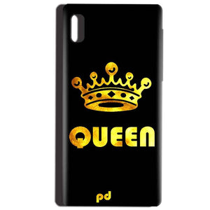 Reliance LYF Water 1 Mobile Covers Cases Queen With Crown in gold - Lowest Price - Paybydaddy.com