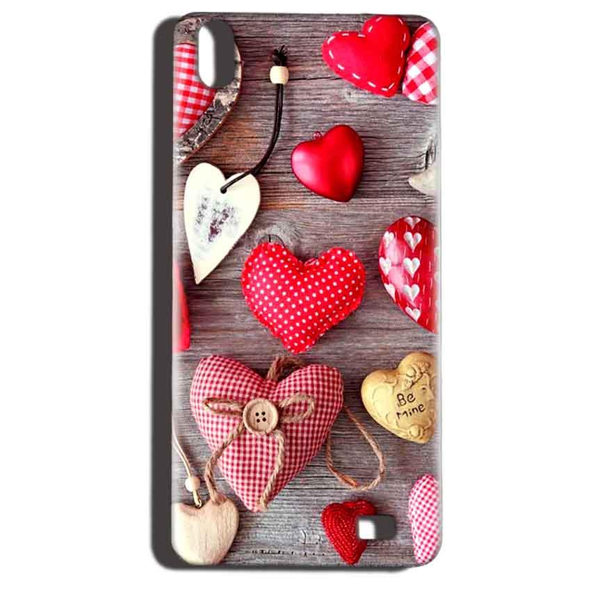 Reliance LYF Water 6 Mobile Covers Cases Hearts- Lowest Price - Paybydaddy.com