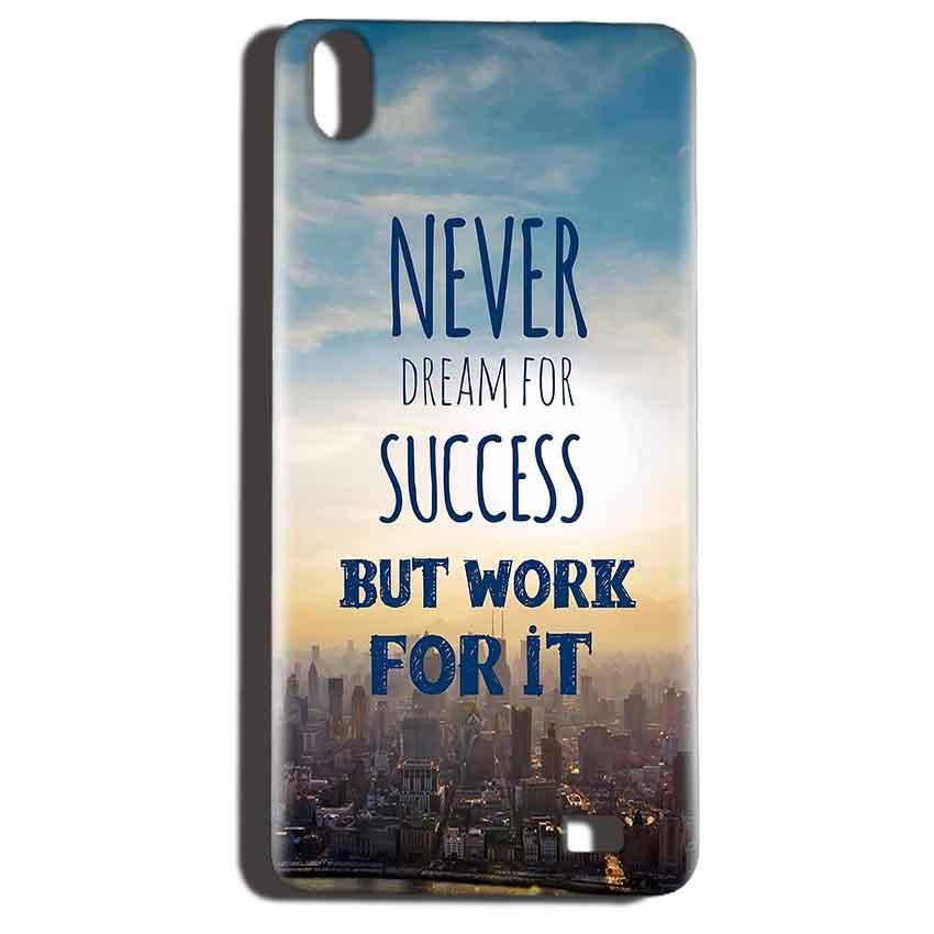 Reliance LYF Water 6 Mobile Covers Cases Never Dreams For Success But Work For It Quote - Lowest Price - Paybydaddy.com