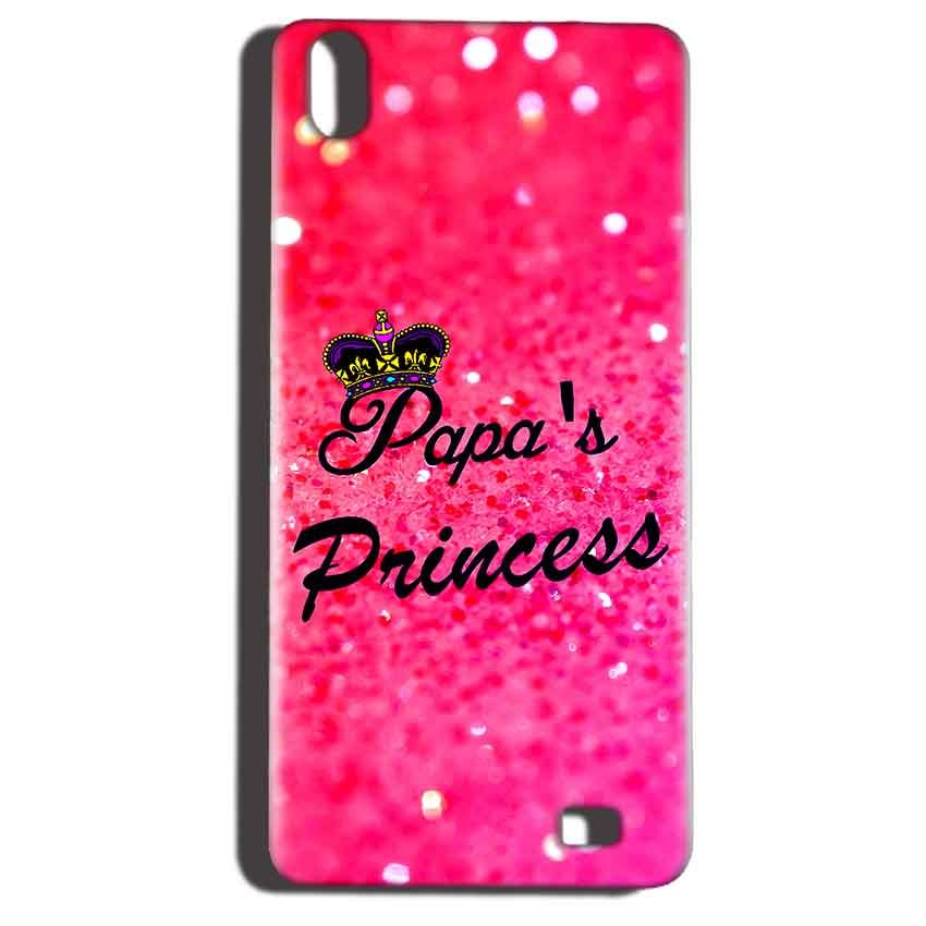 Reliance LYF Water 6 Mobile Covers Cases PAPA PRINCESS - Lowest Price - Paybydaddy.com