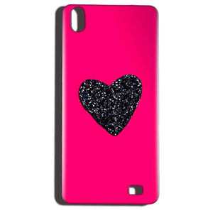 Reliance LYF Water 6 Mobile Covers Cases Pink Glitter Heart - Lowest Price - Paybydaddy.com