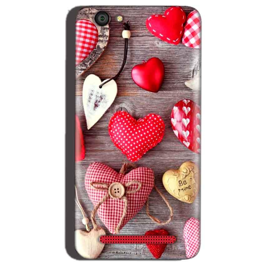 Reliance Lyf Flame 1 Mobile Covers Cases Hearts- Lowest Price - Paybydaddy.com