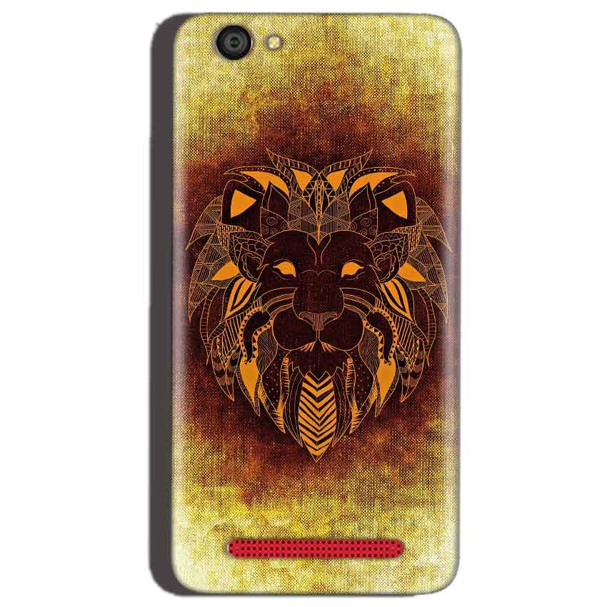 Reliance Lyf Flame 1 Mobile Covers Cases Lion face art - Lowest Price - Paybydaddy.com