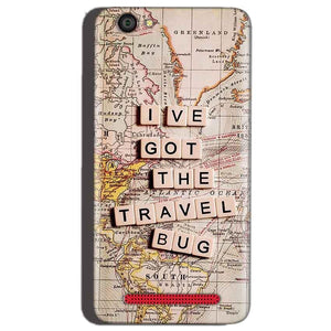Reliance Lyf Flame 1 Mobile Covers Cases Live Travel Bug - Lowest Price - Paybydaddy.com