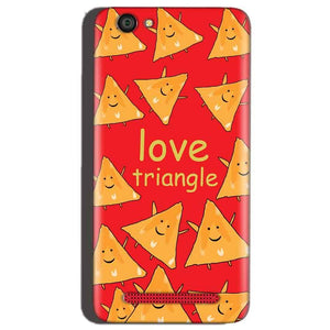 Reliance Lyf Flame 1 Mobile Covers Cases Love Triangle - Lowest Price - Paybydaddy.com
