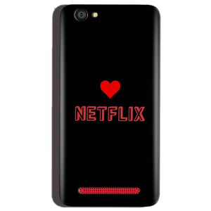 Reliance Lyf Flame 1 Mobile Covers Cases NETFLIX WITH HEART - Lowest Price - Paybydaddy.com