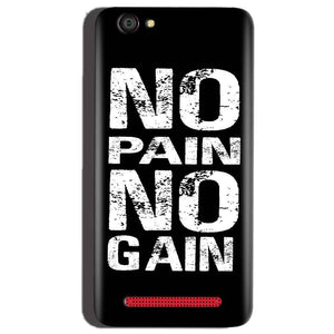 Reliance Lyf Flame 1 Mobile Covers Cases No Pain No Gain Black And White - Lowest Price - Paybydaddy.com