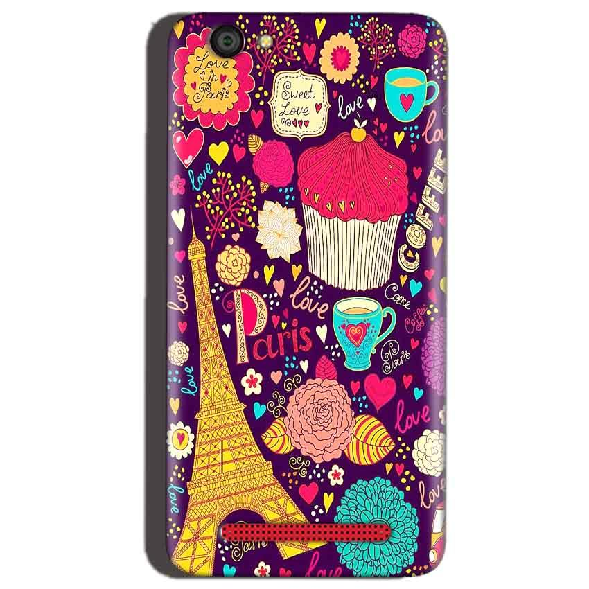 Reliance Lyf Flame 1 Mobile Covers Cases Paris Sweet love - Lowest Price - Paybydaddy.com