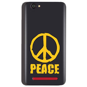 Reliance Lyf Flame 1 Mobile Covers Cases Peace Blue Yellow - Lowest Price - Paybydaddy.com