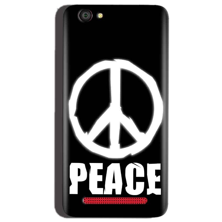 Reliance Lyf Flame 1 Mobile Covers Cases Peace Sign In White - Lowest Price - Paybydaddy.com