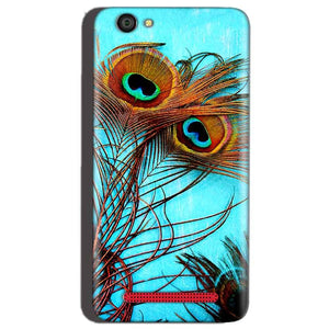 Reliance Lyf Flame 1 Mobile Covers Cases Peacock blue wings - Lowest Price - Paybydaddy.com