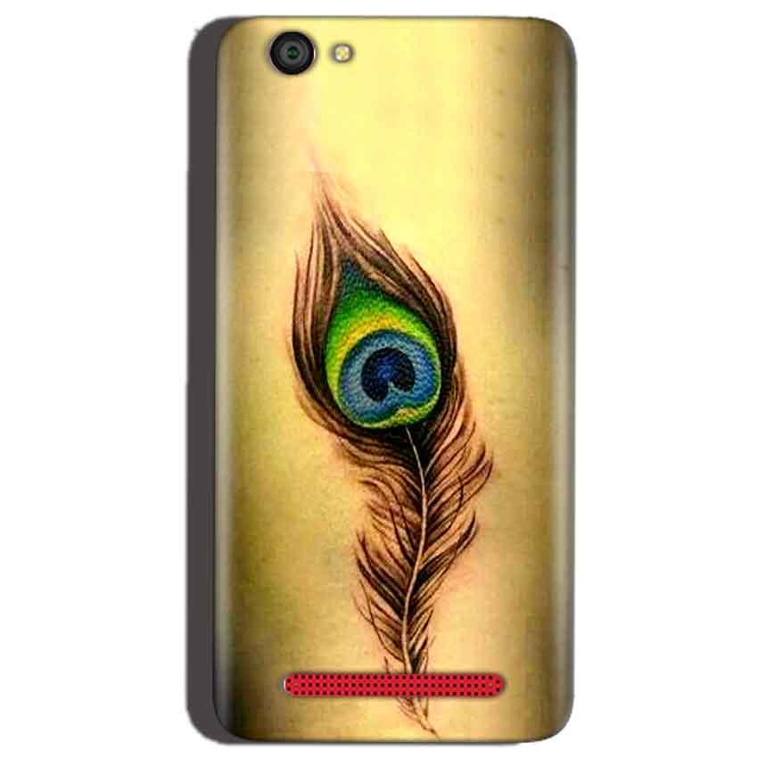 Reliance Lyf Flame 1 Mobile Covers Cases Peacock coloured art - Lowest Price - Paybydaddy.com