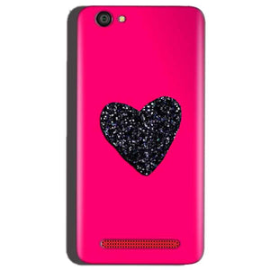 Reliance Lyf Flame 1 Mobile Covers Cases Pink Glitter Heart - Lowest Price - Paybydaddy.com
