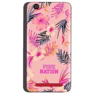 Reliance Lyf Flame 1 Mobile Covers Cases Pink nation - Lowest Price - Paybydaddy.com
