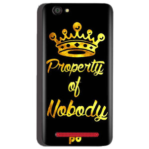 Reliance Lyf Flame 1 Mobile Covers Cases Property of nobody with Crown - Lowest Price - Paybydaddy.com