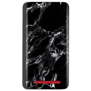 Reliance Lyf Flame 1 Mobile Covers Cases Pure Black Marble Texture - Lowest Price - Paybydaddy.com