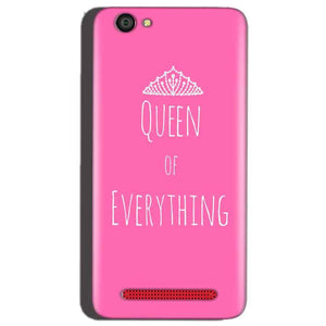 Reliance Lyf Flame 1 Mobile Covers Cases Queen Of Everything Pink White - Lowest Price - Paybydaddy.com