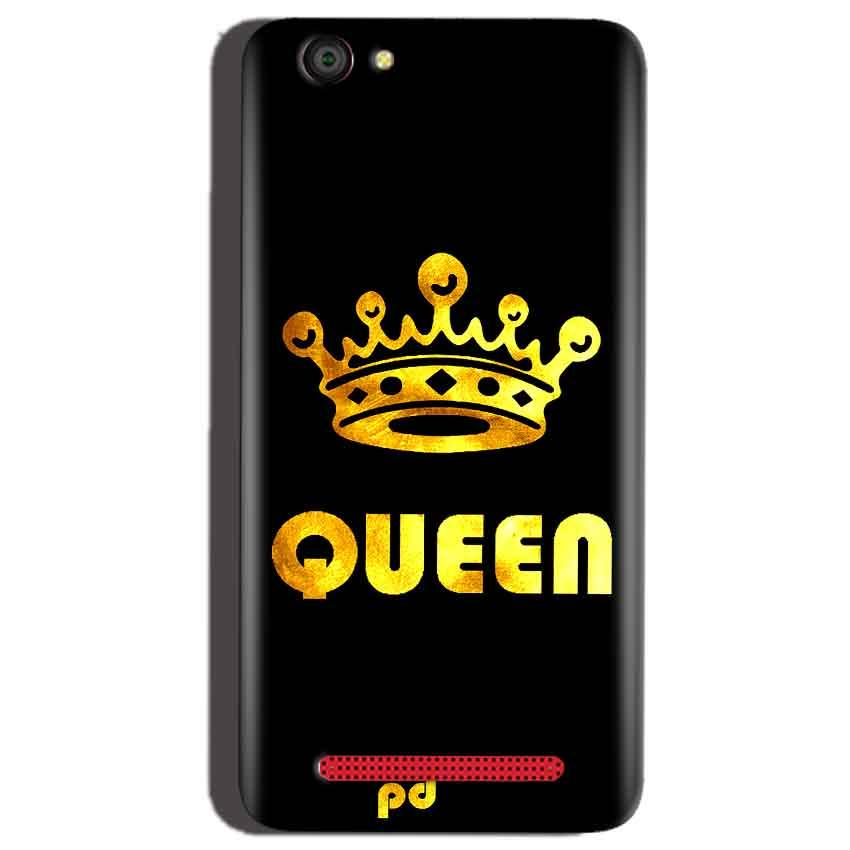 Reliance Lyf Flame 1 Mobile Covers Cases Queen With Crown in gold - Lowest Price - Paybydaddy.com