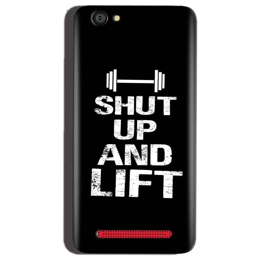 Reliance Lyf Flame 1 Mobile Covers Cases Shut Up And Lift - Lowest Price - Paybydaddy.com