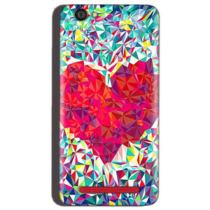 Reliance Lyf Flame 1 Mobile Covers Cases heart Prisma design - Lowest Price - Paybydaddy.com