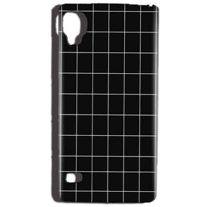 Reliance Lyf Flame 3 Mobile Covers Cases Black with White Checks - Lowest Price - Paybydaddy.com