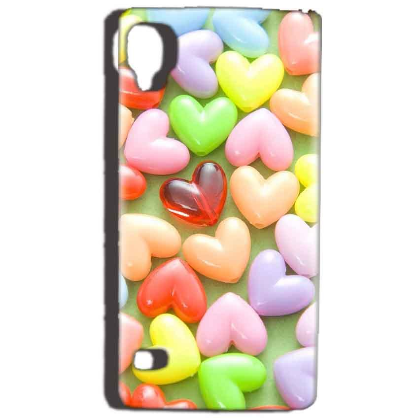 Reliance Lyf Flame 3 Mobile Covers Cases Heart in Candy - Lowest Price - Paybydaddy.com