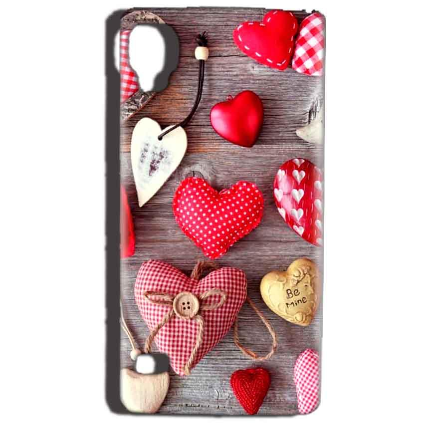 Reliance Lyf Flame 3 Mobile Covers Cases Hearts- Lowest Price - Paybydaddy.com