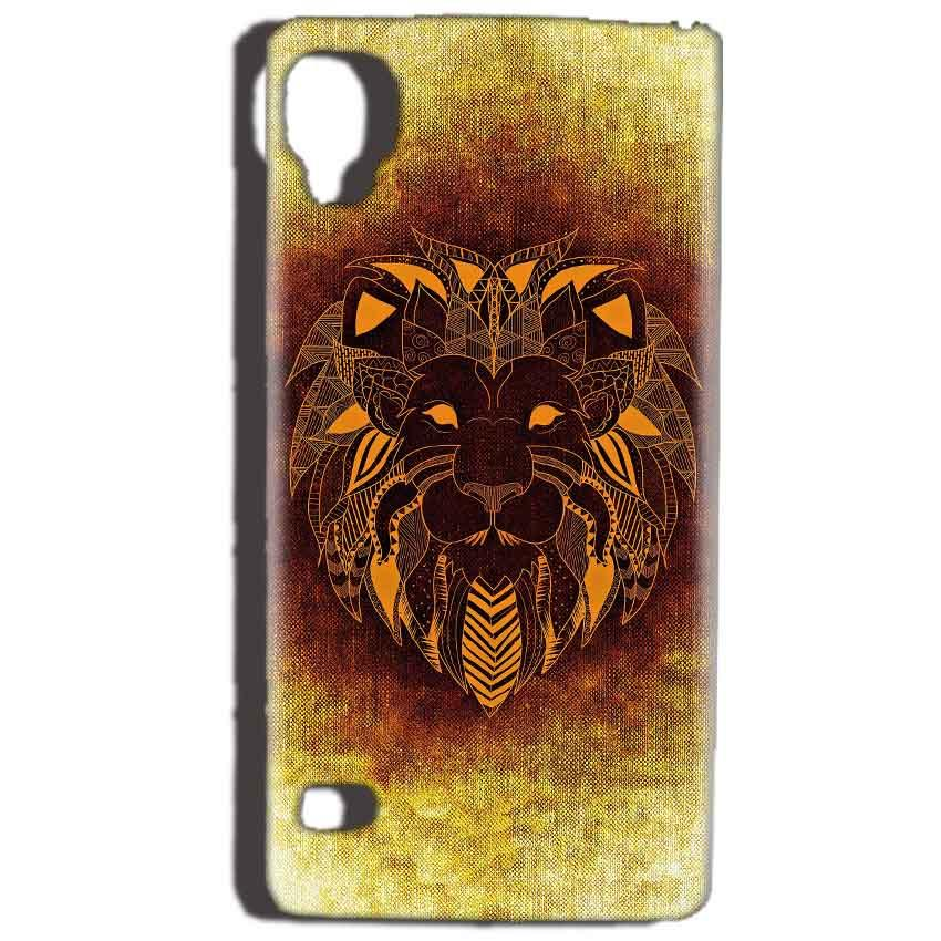 Reliance Lyf Flame 3 Mobile Covers Cases Lion face art - Lowest Price - Paybydaddy.com