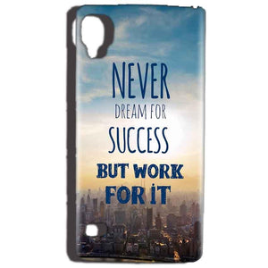 Reliance Lyf Flame 3 Mobile Covers Cases Never Dreams For Success But Work For It Quote - Lowest Price - Paybydaddy.com
