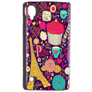 Reliance Lyf Flame 3 Mobile Covers Cases Paris Sweet love - Lowest Price - Paybydaddy.com