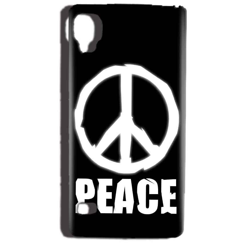 Reliance Lyf Flame 3 Mobile Covers Cases Peace Sign In White - Lowest Price - Paybydaddy.com