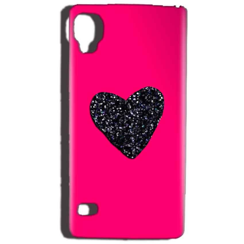 Reliance Lyf Flame 3 Mobile Covers Cases Pink Glitter Heart - Lowest Price - Paybydaddy.com