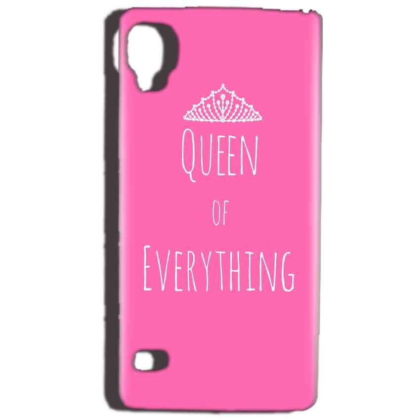 Reliance Lyf Flame 3 Mobile Covers Cases Queen Of Everything Pink White - Lowest Price - Paybydaddy.com