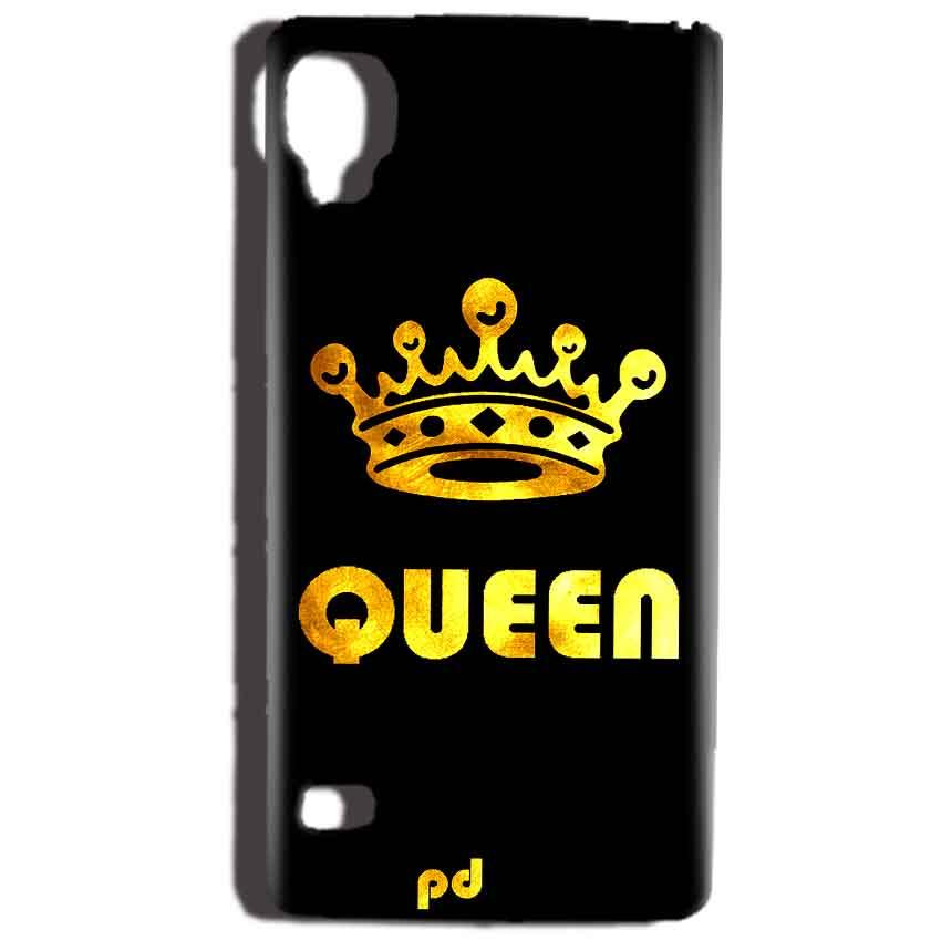 Reliance Lyf Flame 3 Mobile Covers Cases Queen With Crown in gold - Lowest Price - Paybydaddy.com