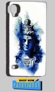 Reliance Lyf Flame 3 Mobile Covers Cases Shiva Blue White - Lowest Price - Paybydaddy.com