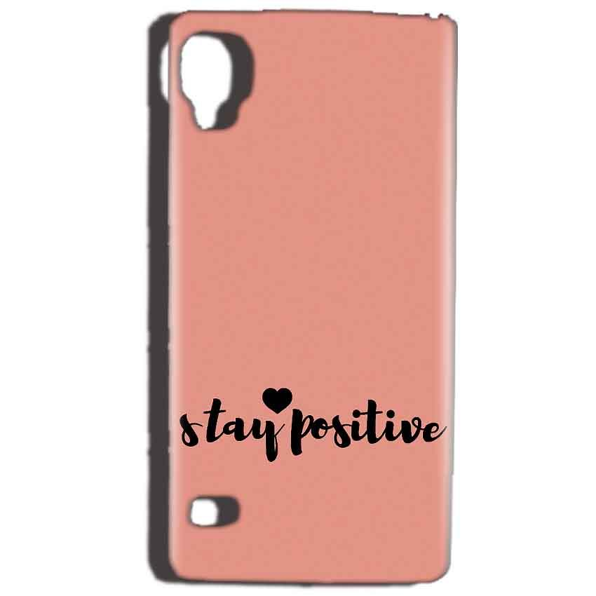 Reliance Lyf Flame 3 Mobile Covers Cases Stay Positive - Lowest Price - Paybydaddy.com