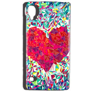 Reliance Lyf Flame 3 Mobile Covers Cases heart Prisma design - Lowest Price - Paybydaddy.com