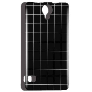 Reliance Lyf Flame 4 Mobile Covers Cases Black with White Checks - Lowest Price - Paybydaddy.com