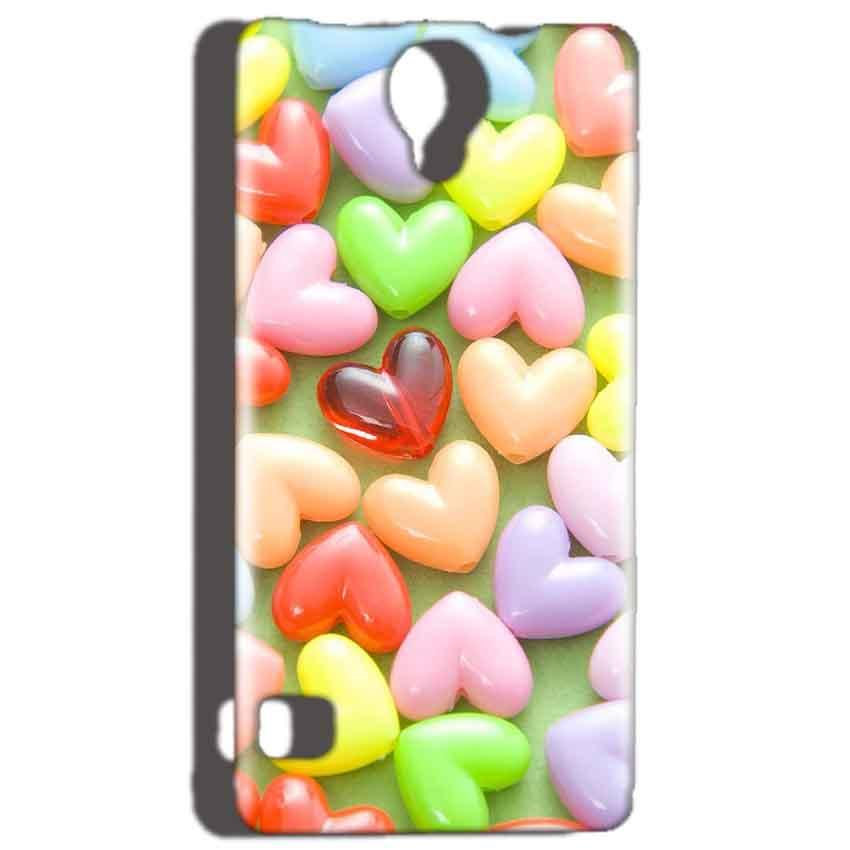 Reliance Lyf Flame 4 Mobile Covers Cases Heart in Candy - Lowest Price - Paybydaddy.com