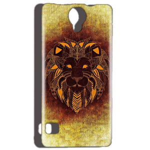Reliance Lyf Flame 4 Mobile Covers Cases Lion face art - Lowest Price - Paybydaddy.com